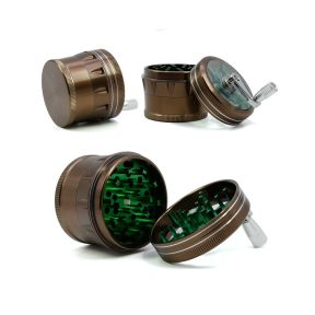NovaBong offer multi colors new style 4 layer aluminum alloy lightning shape herb grinder with hand operate wholesale