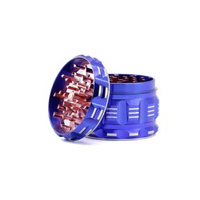 NovaBong new design 4 layer aluminum alloy lightning crusher with flatpattern polygon herb grinder