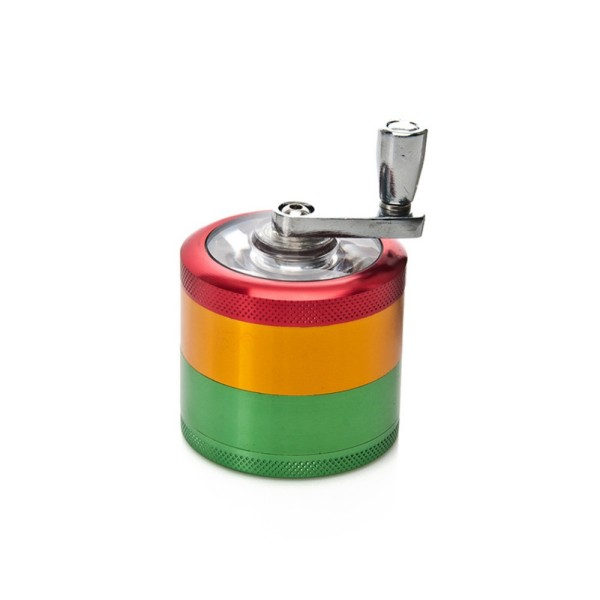 NovaBong new design 4 layer multi colors aluminum alloy diameter 50mm with hand operate herb grinder