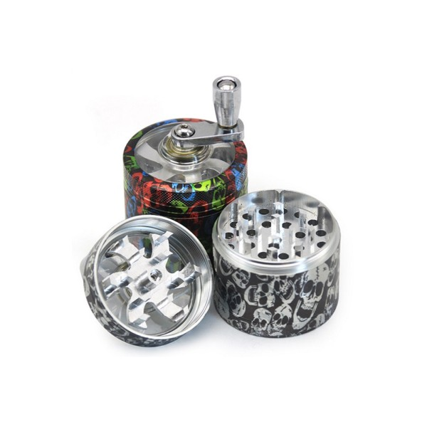 NovaBong released latest design Skull Color Printer tobacco Herb Grinder Aluminium Alloy Hand operate Weed Crusher with multi colors