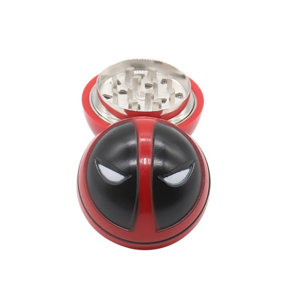 NovaBong offer  new design Deadpool tobacco herb grinder 3 layer zinc alloy diameter 53mm wholesale price