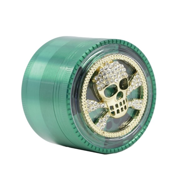 NovaBong multi new design tobacco herb grinder 4 layer zinc alloy signal shape teeth clear top frog spider skull cross cover