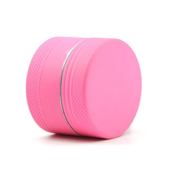 NovaBong offer  new design 3 layer aluminum alloy  tobacco herb grinder coated with silicone diameter 40mm wholesale