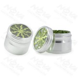 NovaBong new style diameter 63mm big aluminum alloy 4 layer with top clear lightning herb grindern crusher