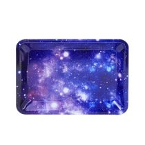 Amazing Star Cloud painting Metal Rolling Tray 7 inch *5 inch