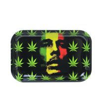 Bob Marley Painting Metal Rolling Tray	11 inch *7 inch