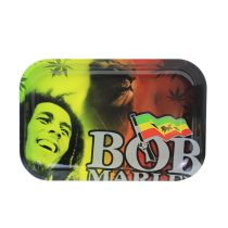 Bob Marley Metal Rolling Tray   11 inch *7 inch
