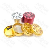 NovaBong multi colors diameter 63mm tobacco Herb Grinder 4 Layers aluminum alloy with  top cover 8 fan blade style