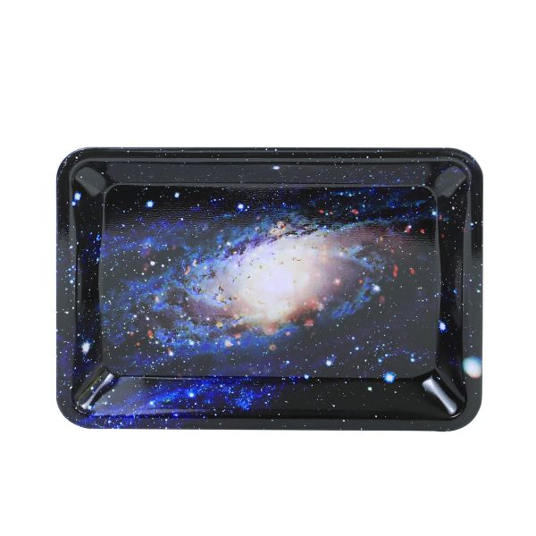Nice Galaxy painting Metal Rolling Tray   7 inch *5 inch