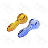 Babysbreath Hand Pipe in colors Amber/Blue/Green/Pink/Crystal  4 inch Length