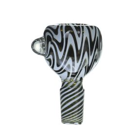 14MM Male Joint zebra Rasta glass bowl