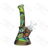 6.5 inch Carton Painted Silicone Printed Dab Rig With Quartz Banger/Bong Bowl
