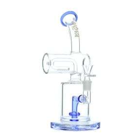 Nova Glass 10.5 inch colored roller tube perc Dab Rig
