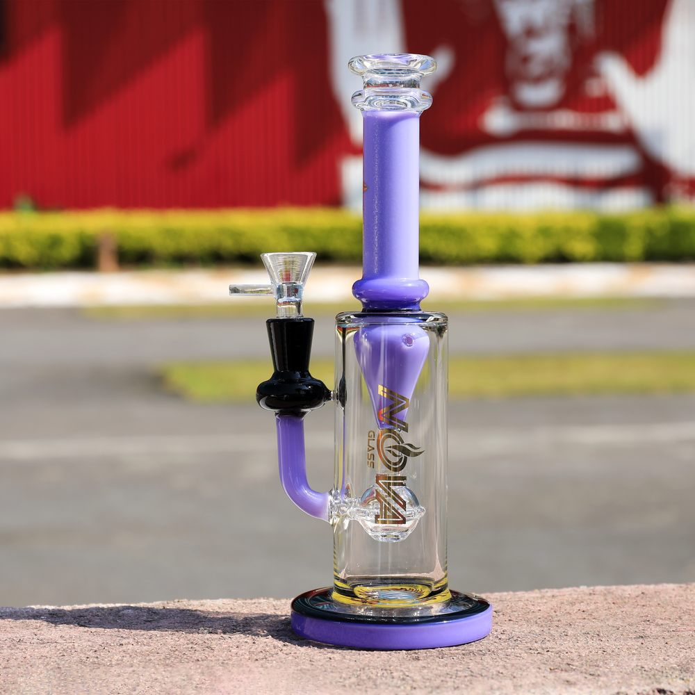 Nova Glass 9.5 inch colored roller filter Dab Rig