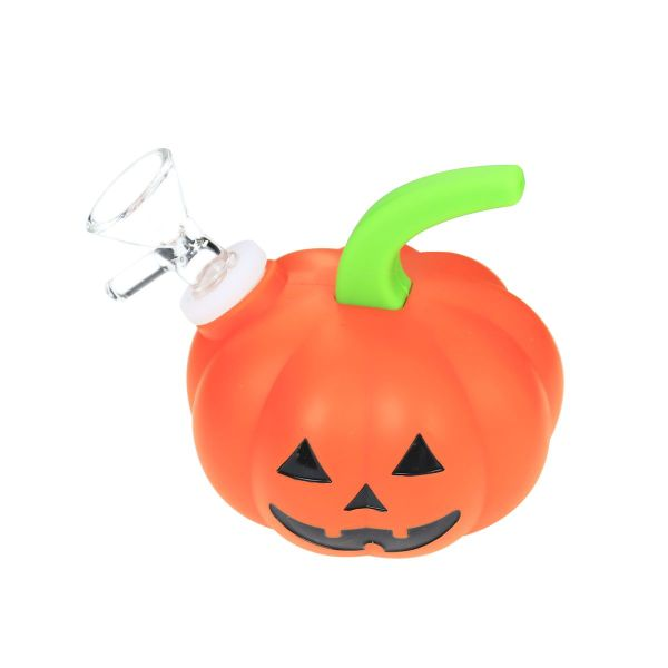 3.6 inch Mini Silicone PUMPKIN Dab Rig with Quartz Banger/Bong Bowl