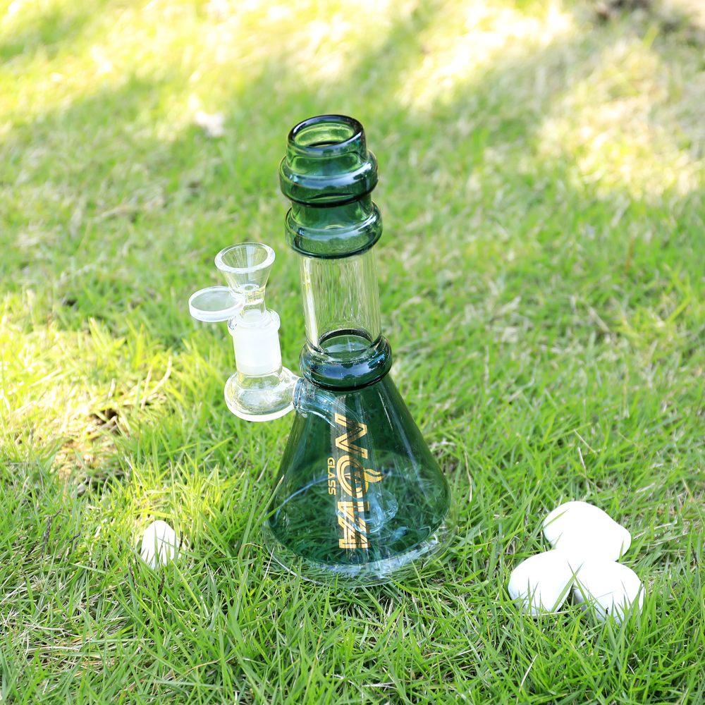 Nova Glass 7.5 inch colored Oil Rig matrix perc Glass Water Pipe