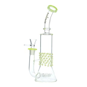 Nova Glass 10.2 inch colored spot decorate with matrix filter Dab Rig
