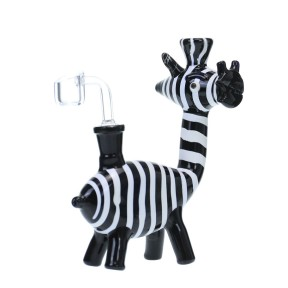 Nova Glass 6.8 inch Zebra Dab Rig