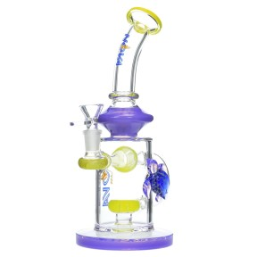 Nova Glass 10 inch showerhead perc with turtle decorate Glass Water Pipe