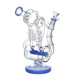 Nova Glass 12 inch colored  recycle glass water pipe