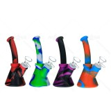 6.5 inch Colored Silicone Dab Rig With Quartz Banger/Bong Bowl