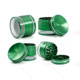 NovaBong new style 4 layer aluminum alloy herb grinder 2.5 inches transpearent bottom cover convave and top convave cover