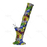 13.5 inch Carton Printed Silicone Bong With Quartz Banger/Bong Bowl