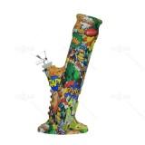 10 inch Cool SKULL Art Printed Silicone Bong With Quartz Banger/Bong Bowl