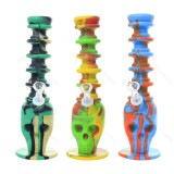 8 inch Colored SKULL extended Silicone Bong With Quartz Banger/ Bong Bowl