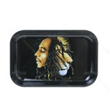 Bob Marley Painting with Lion Metal Rolling Tray | 11 inch *7 inch