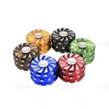 NovaBong offer multi colors fidget Spinner 3 layer aluminum alloy tobacco herb grinder with diameter 63mm