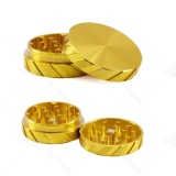 NovaBong 4 colors with 2 layer aluminum alloy diameter 56mm tyre-stamp shape tobacco herb grinder wholesale