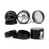 NovaBong new 2.5 inches 4 layer aluminum alloy tobacco grinder with multi colors and side hand operate rolling function