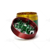 NovaBong arrived new style 4 layer aluminum alloy rainbow colors herb grinder with hand operate easy function