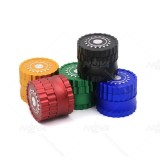 NovaBong offer gears chain tobacco Herb Grinder  4 Layers  aluminum alloy with diameter 63mm multi colors