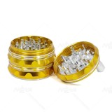 NovaBong arrive golden and black colors new style with 4 layer aluminum sharp pattern polygon crusher hand operate herb grinder wholesale