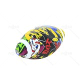 4 inch Graphic Football Silicone Hand Pipe With glass Bowl-Assorted Colors