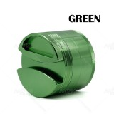 NovaBong multi colors Diameter 75mm 4 Layers Aluminum Alloy Tobacco herb Grinder with top cover gap design