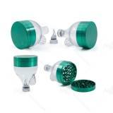 NovaBong offer New style Multi colors zinc alloy funnel shape 63mm diameter tobacco herb grinder wholesale