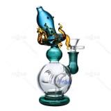 Nova Glass 8.7 inch octopus glass dab rig