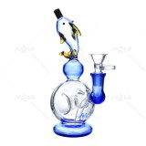 Nova Glass 8.7 inch Dolphin Glass Dab Rig