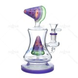 Nova Glass 7 inch bong available in a pink,purple or green watermelon pattern