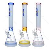 Nova Glass 15.2 inch Colored Ice Pinched tube beaker bong