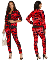 Fashion Camouflage Printed Two Pieces Sets SMR-9118