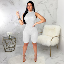 Sequined Sleeveless Bodycon Playsuit SMR-9162