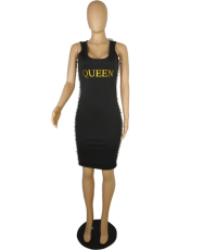 Black Straps Slim Waist Dress PIN-625
