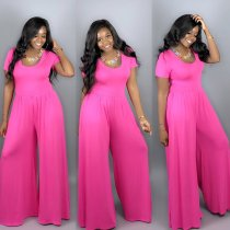 Casual Loose Short Sleeve Jumpsuits LS-0263