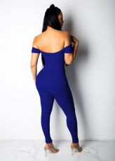 Solid Off Shoulder Slim Jumpsuit YM-9106