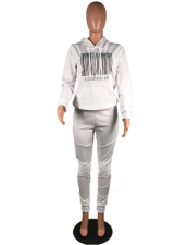 Casual Hooded Tracksuit 2 Piece Set MK-1037