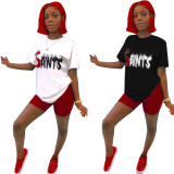 Casual Short Sleeve T Shirt And Shorts 2 Piece Sets QZX-6071